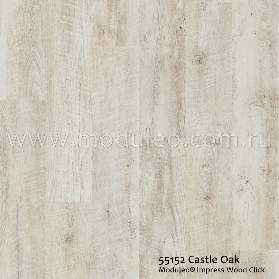 Impress Wood Click. Castle Oak 55152. IVC Moduleo.